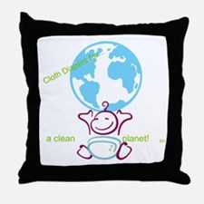 Unique Cloth diaper Throw Pillow