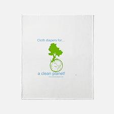 Cute Cloth diaper Throw Blanket