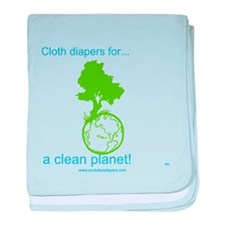 Cute Cloth diaper baby blanket
