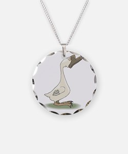 Silly White Goose Necklace