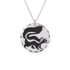 Skunk Necklace Circle Charm