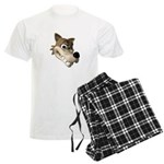 Funny Wolf Face Men's Light Pajamas