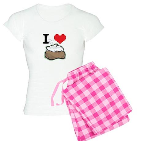 I Heart (Love) Baked Potatoes Women's Light Pajama