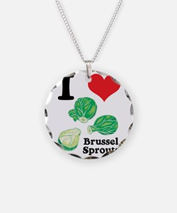 I Heart (Love) Brussel Sprout Necklace