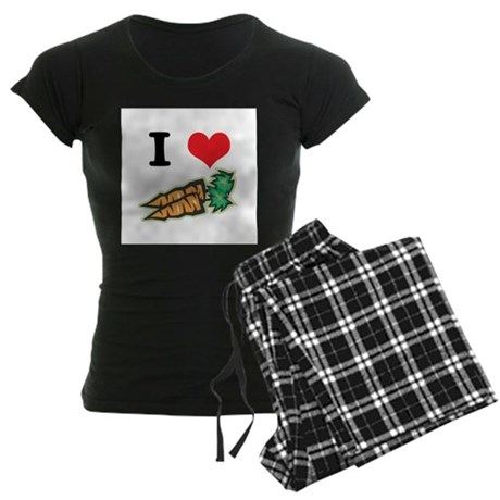 I Heart (Love) Carrots Women's Dark Pajamas