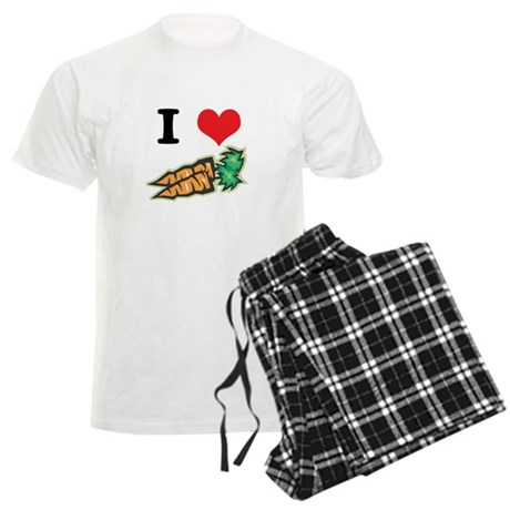 I Heart (Love) Carrots Men's Light Pajamas