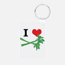 I Heart (Love) Celery Keychains