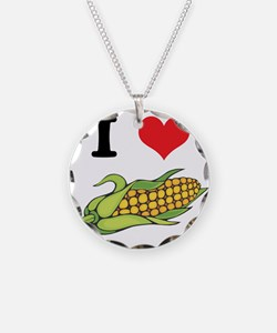 I Heart (Love) Corn (On the C Necklace