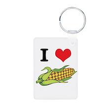 I Heart (Love) Corn (On the C Keychains
