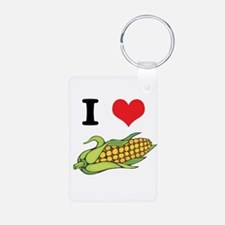 I Heart (Love) Corn (On the C Keychains