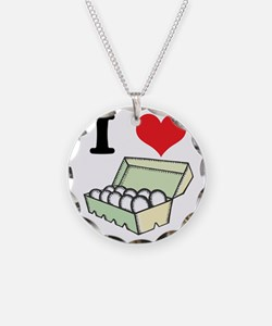 I Heart (Love) Eggs Necklace