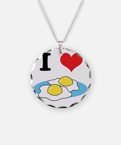 I Heart (Love) Fried Eggs Necklace