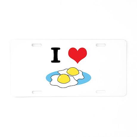 I Heart (Love) Fried Eggs Aluminum License Plate