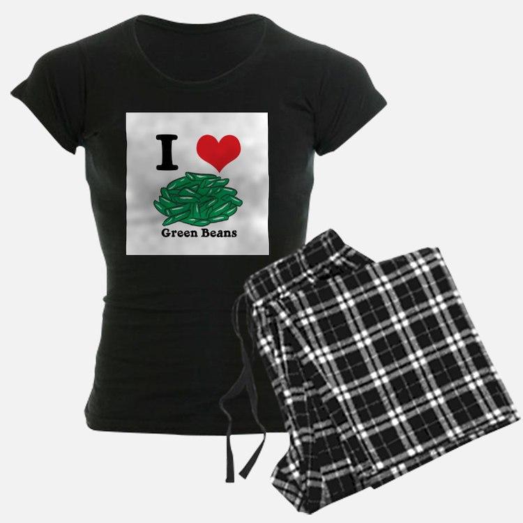 I Heart (Love) Green Beans Pajamas