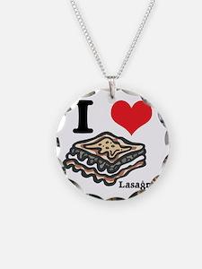 I Heart (Love) Lasagna Necklace
