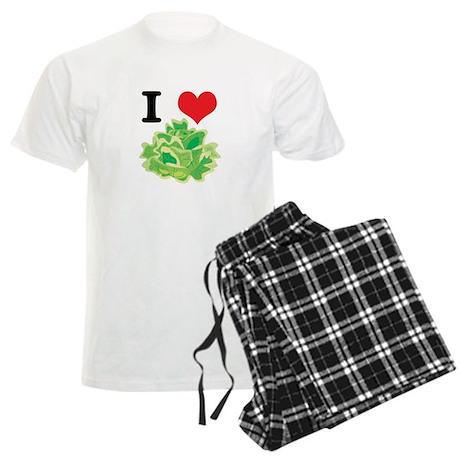 I Heart (Love) Lettuce Men's Light Pajamas
