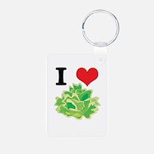 I Heart (Love) Lettuce Keychains