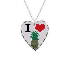 I Heart (Love) Pineapple Necklace