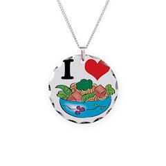 I Heart (Love) Salad Necklace