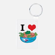 I Heart (Love) Salad Keychains