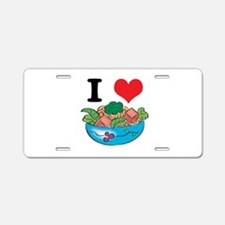 I Heart (Love) Salad Aluminum License Plate