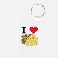 I Heart (Love) Tacos Keychains