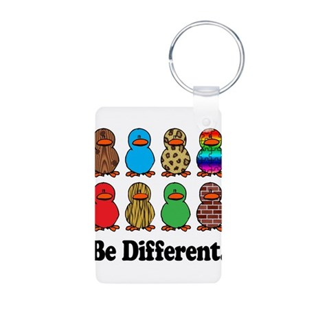 Be Different Ducks Aluminum Photo Keychain