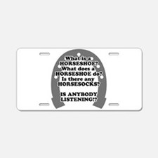 What is a Horseshoe? Aluminum License Plate