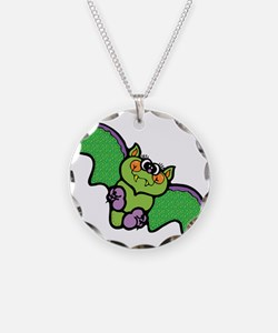 Cute Green Country Bat Necklace