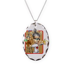 Funny Mad Scientist Monkey Ex Necklace