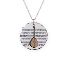 Mandolin and Sheet Music Desi Necklace