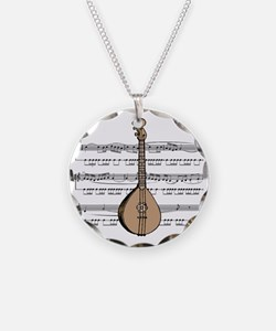 Mandolin and Sheet Music Desi Necklace Circle Char