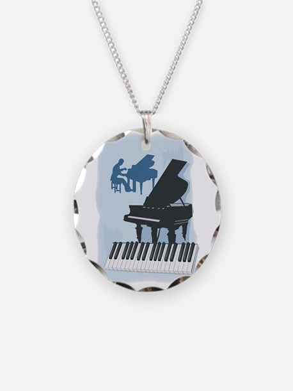 Pianist Design Necklace