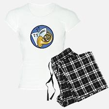 Tuba and Sheet Music Circle D Pajamas