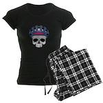 Cycling Skull Head Women's Dark Pajamas