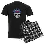 Cycling Skull Head Men's Dark Pajamas