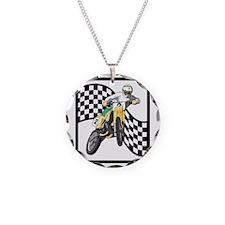 Motocross Design Necklace