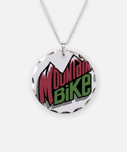 Mountain Bike Graphic Necklace