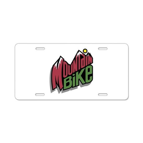 Mountain Bike Graphic Aluminum License Plate