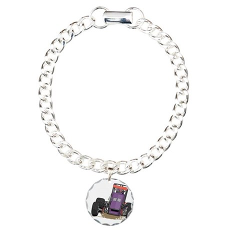 Drag Racing Car Charm Bracelet, One Charm