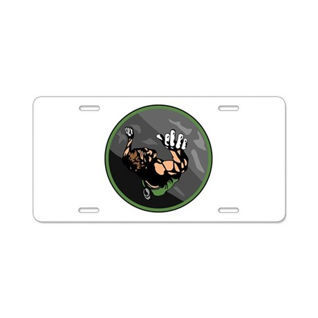Rock Climbing Circle Design Aluminum License Plate