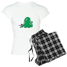 Silly Dinosaur with Baseball Pajamas