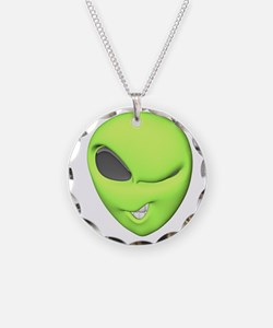 Funny Winking Alien Necklace