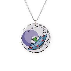 Alien in UFO Necklace