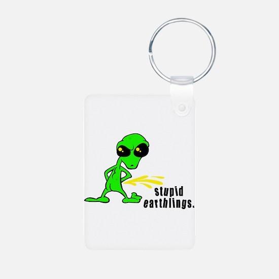 Stupid Earthlings Pissing Ali Keychains