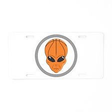 Basketball Alien Aluminum License Plate