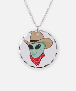 Cowboy Alien Necklace