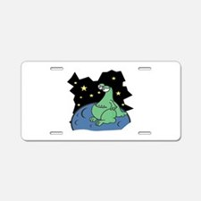 Martian on a Planet Aluminum License Plate