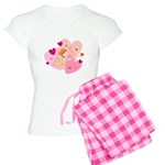 Cute Little Cupid Shooting Ar Women's Light Pajama