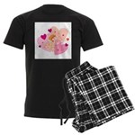 Cute Little Cupid Shooting Ar Men's Dark Pajamas